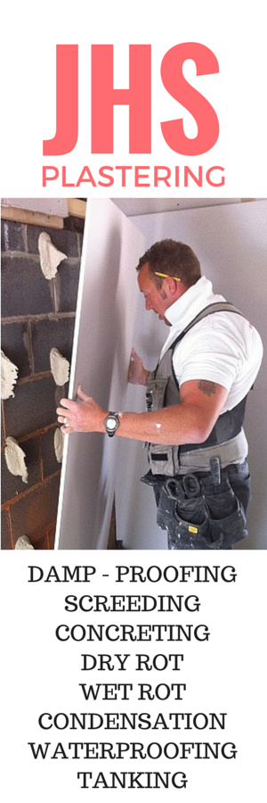 JHS Plastering Damp-Proofing Mansfield Nottingham Chesterfield Plasterer Residential Trade